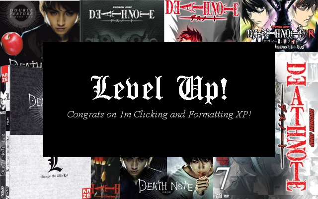 Death Note News Store Level Up Notice