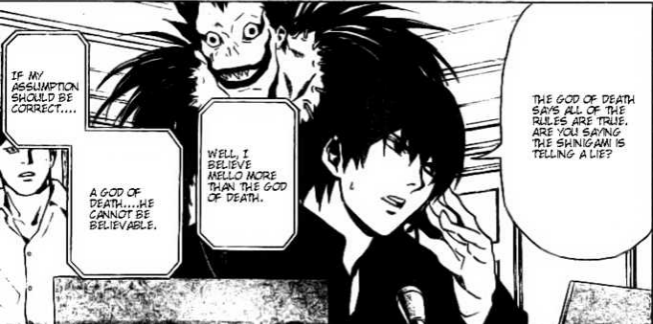 Death Note Ryuk, Light and Ide Chapter 78