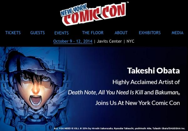 Takeshi Obata at New York Comic Con