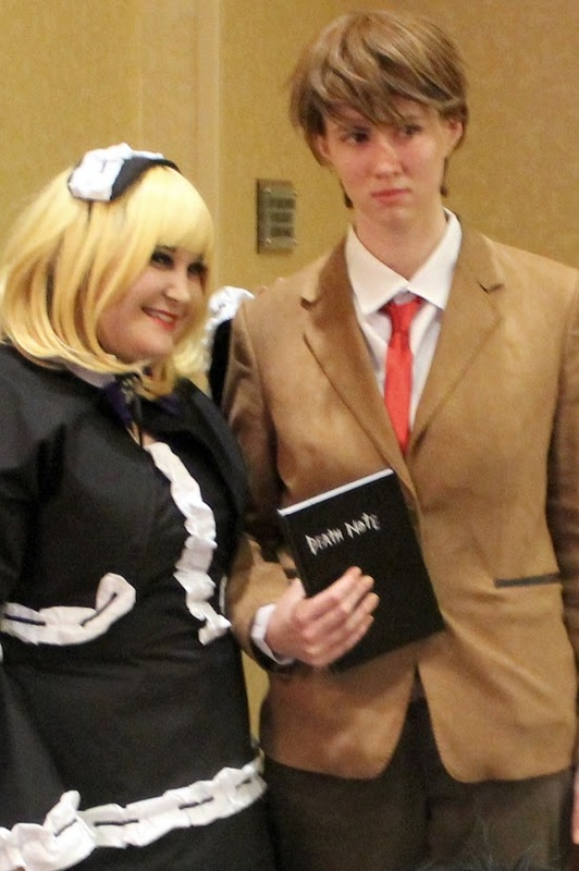 Death Note Cosplayers at Ichibancon 7: Misa and Light; Lara Sizemore and Cayanna Carma