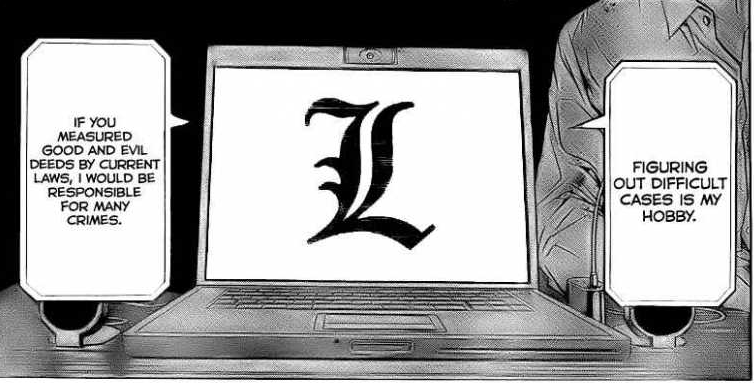 L's Morality in Death Note