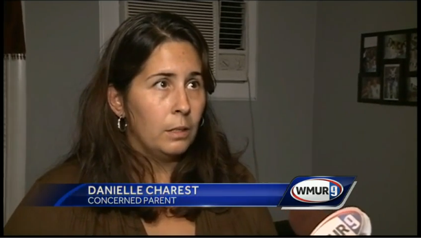 Concerned about Death Note Nashua parent Danielle Charest on WMUR9