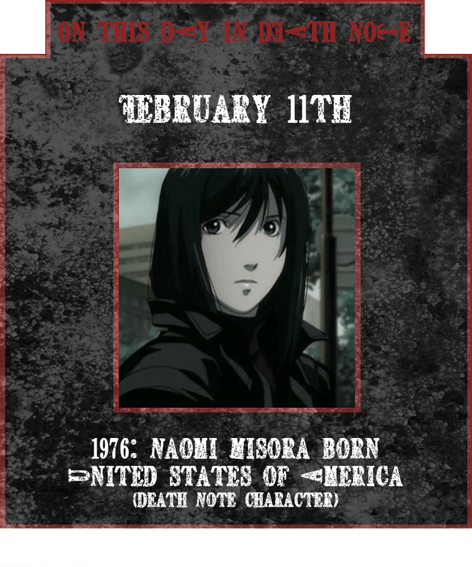 February 11th - Naomi Misora birthday