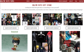 Death Note Stores at Death Note News