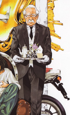 Watari as butler in Death Note