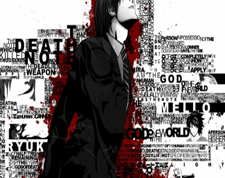 Light Yagami word art artist unknown