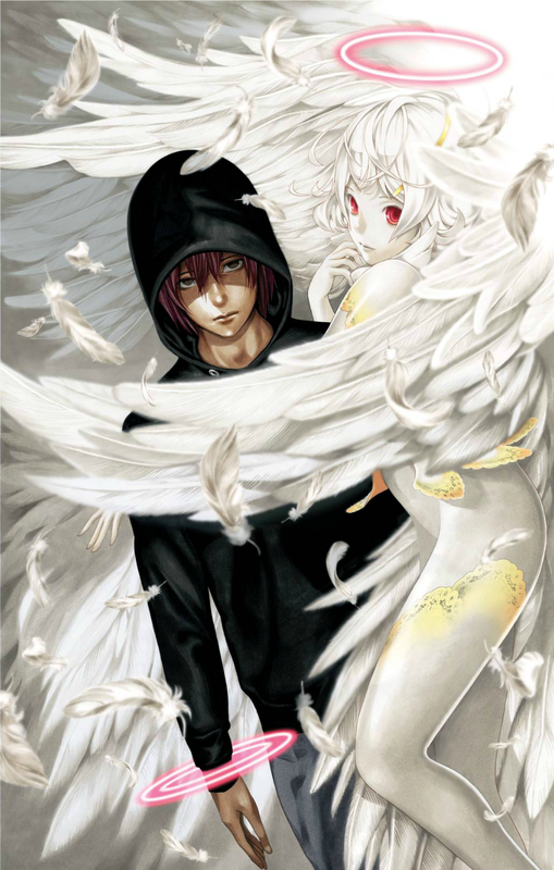 Platinum End Mirai Kakehashi and Nasse the Angel from first chapter