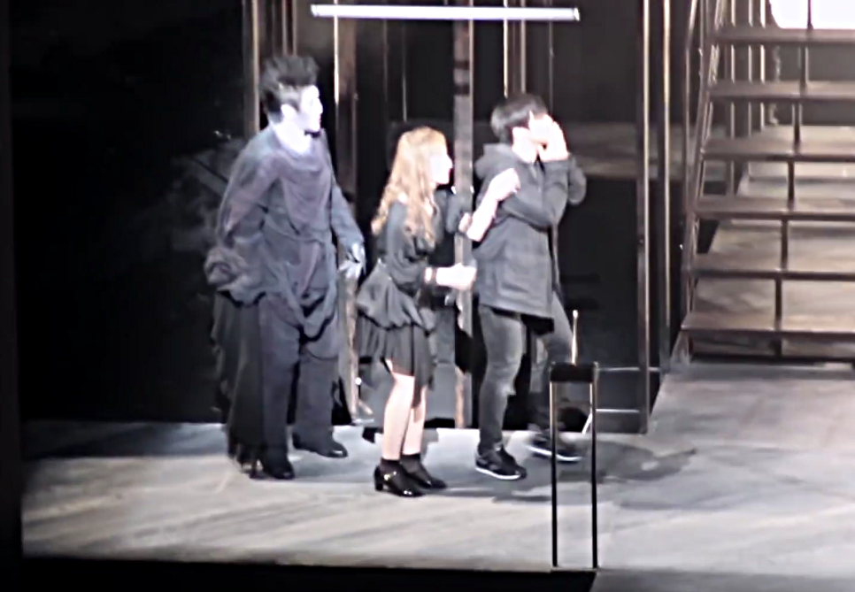 Cast of Korean Death Note the Musical at final curtain call