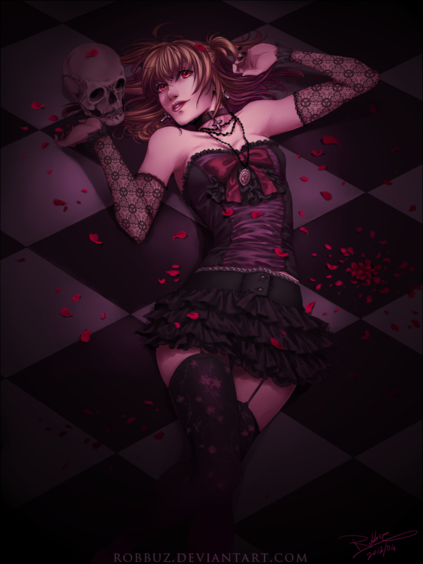 Misa Amane portrait art - Crime Scene by Robbuz is Not Kira.