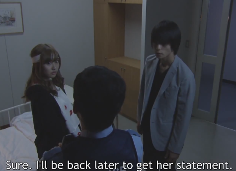 New Death Note episode 8 Misa, Light and police officer