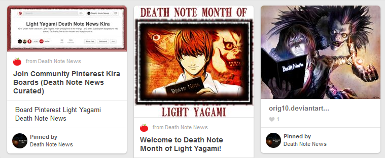 Light Yagami Pinterest Death Note community