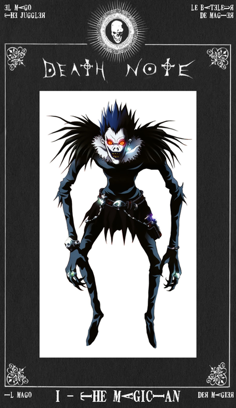 Ryuk as The Magician Death Note Tarot