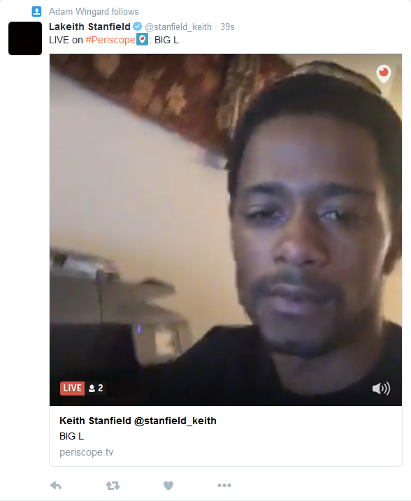 Adam Wingard Tweet revealing Keith Stanfield L in Death (June 13th 2016, 11am British time)