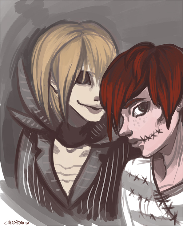 December 13th 1994: Mello and Matt Nightmare Before Xmas by Chiroptera