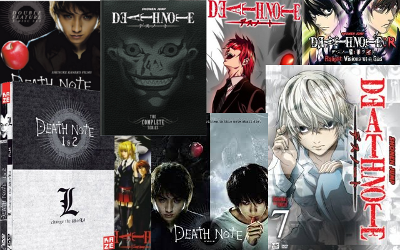 Anime Death Note movie live-action DVDs