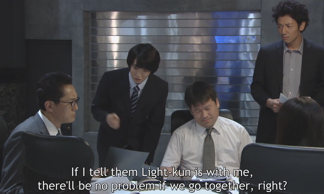 Death Note Matsuda taking Light on work experience