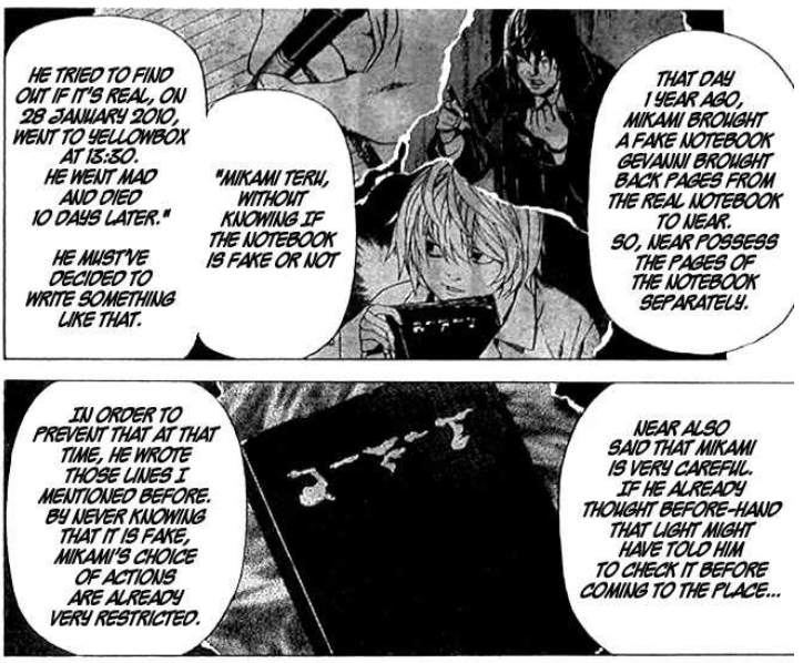 Matsuda's Death Note theory - Near controlled Mikami