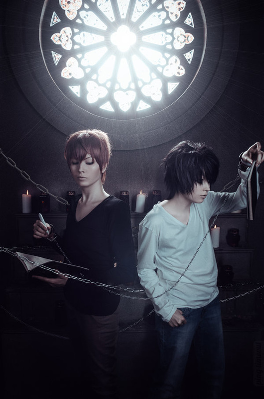 Fausto-the-Endless Light Yagami and L cosplay