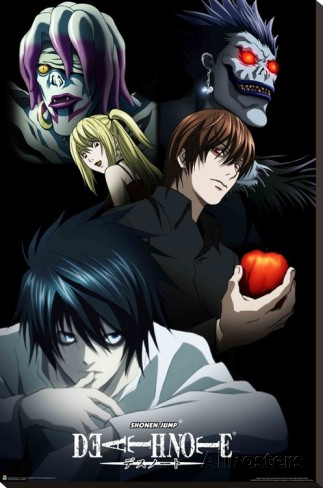 Death Note - Characters (Stretched Canvas Print)