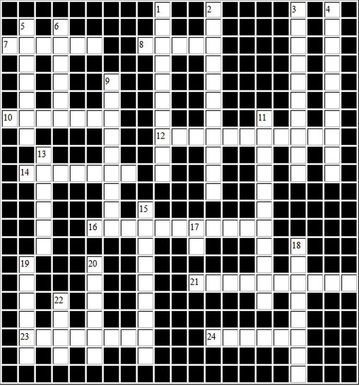 Death Note Kira Crossword Grid