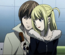 Light and Misa with her phone