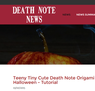 Death Note News October 20th 2015