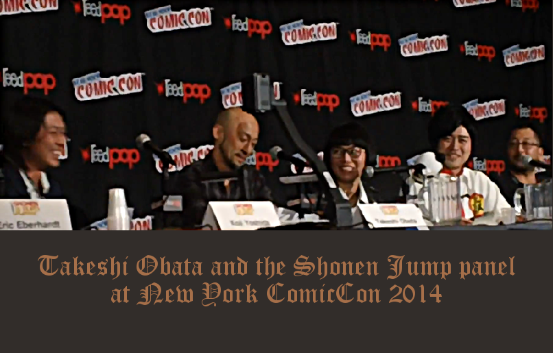 Takeshi Obata at Shonen Jump panel NYComicCon 2014