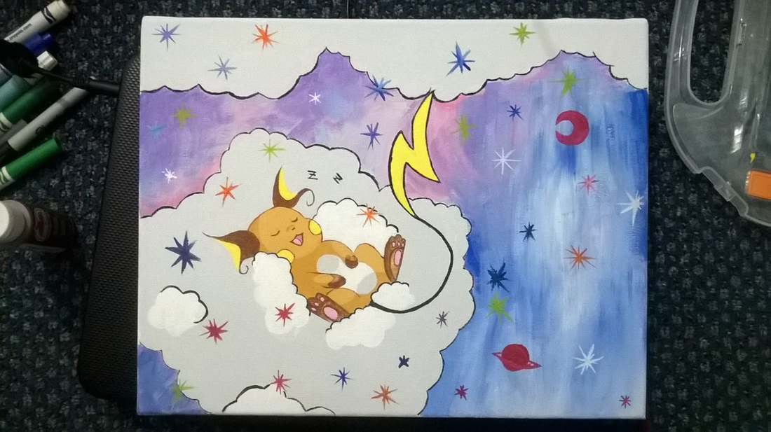 Raichu painting by Mistress 9
