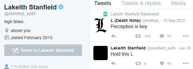 Keith Stanfield L Death Note news tweets