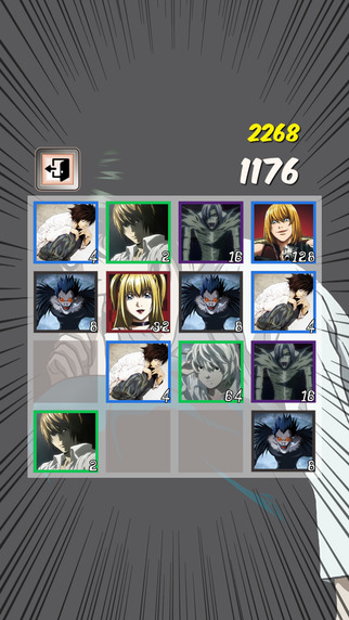 Screenshot for 2048 Death Note iPhone game