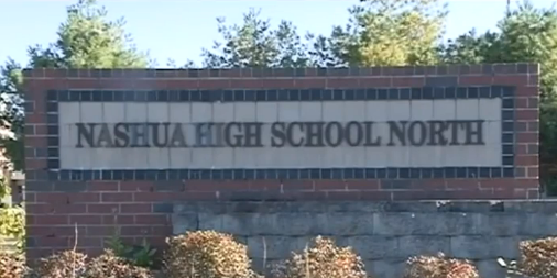Nashua High School North entrance sign