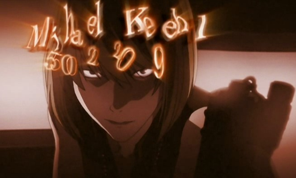 Death Note Mihael Keehl Name and Date