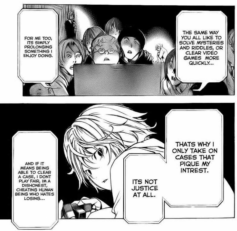 Death Note One Shot - L isn't justice