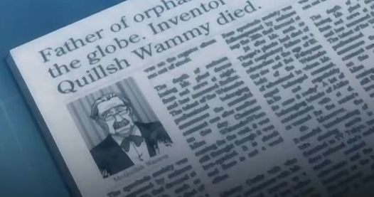 Death of Quillsh Wammy reported in Death Note