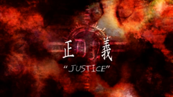 Death Note Episode 30 Justice title page