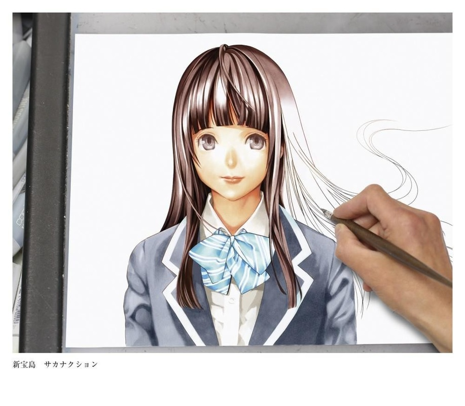 Takeshi Obata artwork for Bakuman CD