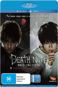 Death Note Movie Collection 1 & 2 on Blu-Ray and DVD