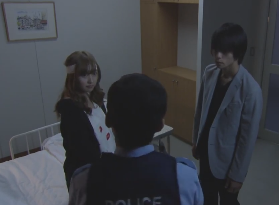 Death Note TV drama Misa, Light and police officer