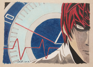 Light Yagami pencil sketch by Tate Forkel