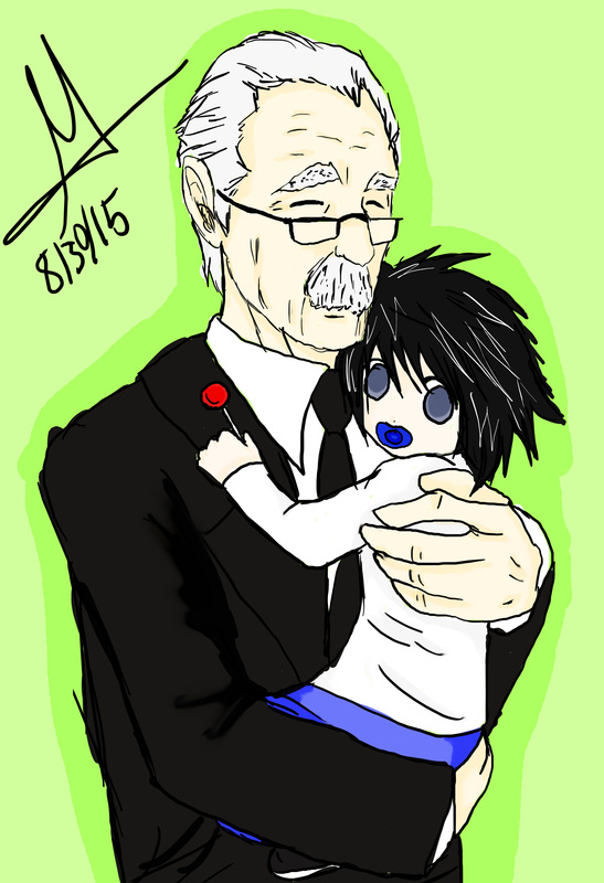 Death Note News Watari and L artwork by Lacie BunCat