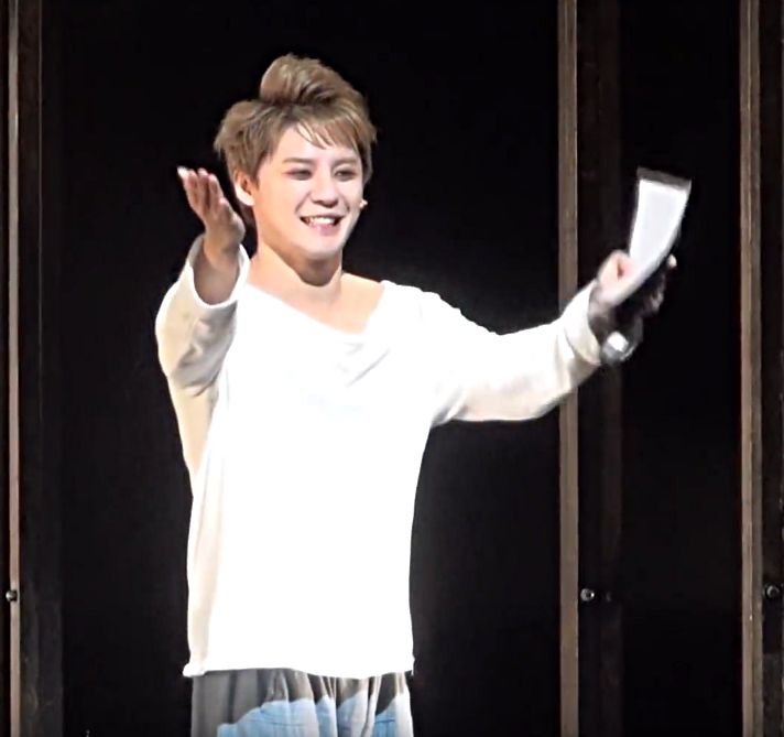 Xiah Junsu as L at Death Note the Musical last curtain call