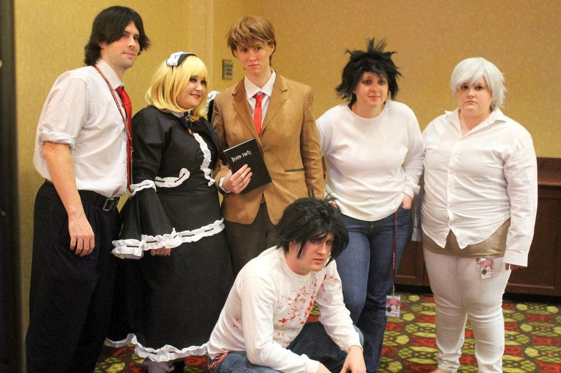 Squad Six Cosplayers with Cayanna Carma at Ichibancon Death Note panel