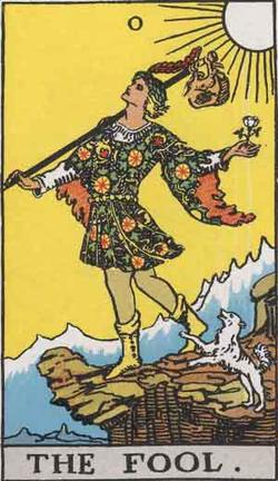The Fool - card 0 of the Major Arcana