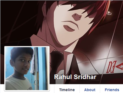 Rahul Sridhar Facebook Death Note banner