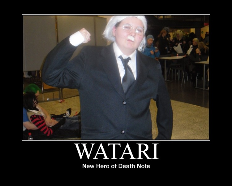 Kinky Mattila cosplays Watari New Hero of Death Note