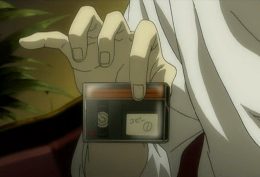 Second Kira tapes held by L in Death Note