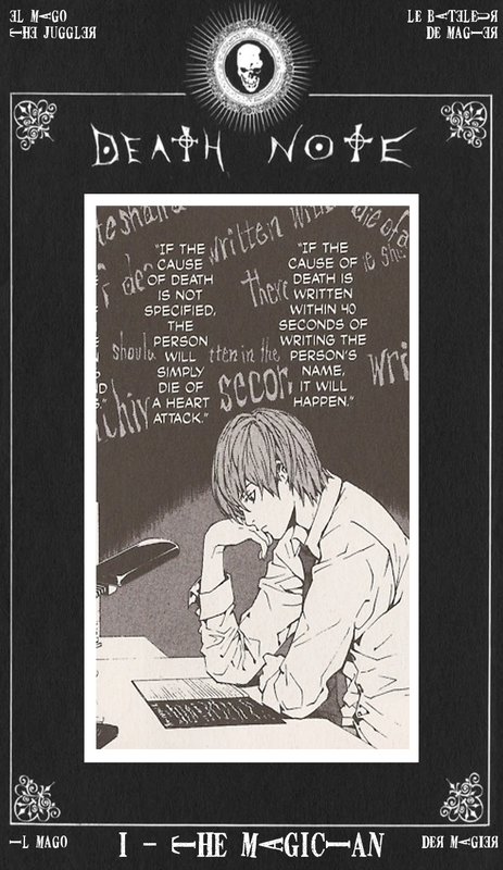 Tarot Magician Death Note Rules